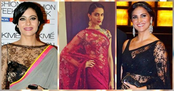 How To Look Gorgeous In Your Lace Saree - The Celeb Way!
