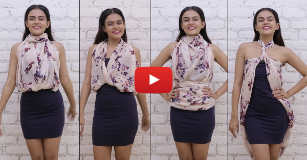 4 Ways To Turn A Scarf Into A Stylish Top!
