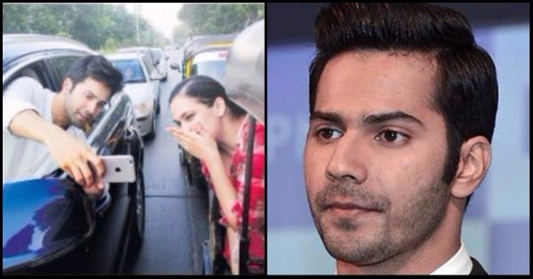 Varun Dhawan Gets Challaned By Mumbai Police For A Selfie Stunt On The Road
