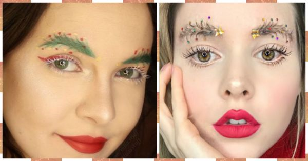 Christmas Tree Brows Are Here To Light Up Your Holiday Season