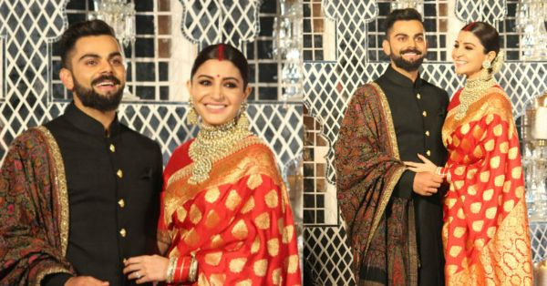 Virat & Anushka's First Look From Their Delhi Reception Is Out & They Look Royal AF!