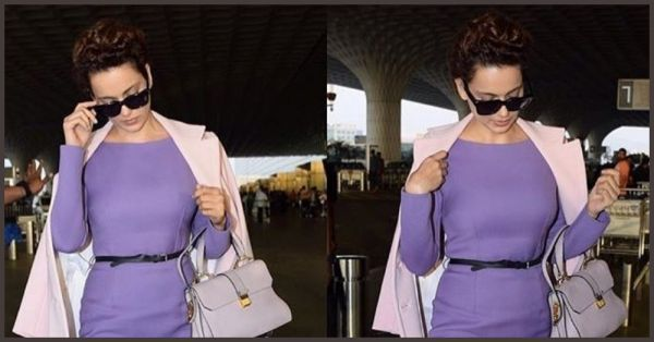 Kangana Ranaut's Recent Airport Look Has Got Us Crushing On Lavender!