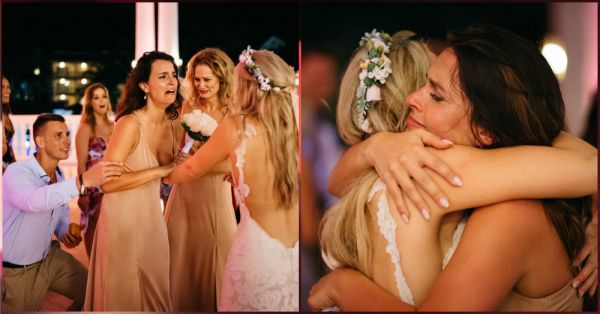 This Bride Planned Her BFF's Proposal At Her Own Wedding & It Was The Best Thing Ever!
