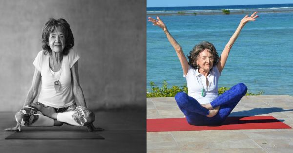 How To Live A Happy Life, According To The Oldest Yoga Teacher In The World!