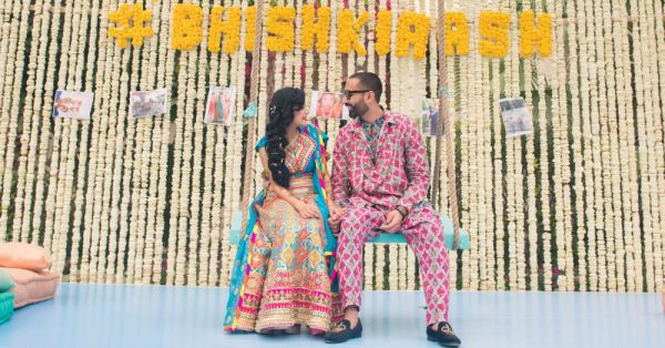 This Bride's Fiancé Designed Her Sangeet Outfit & You Need To See It!