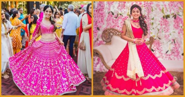 15 Shades Of PINK: The Prettiest Pink Lehengas That Brides Wore!