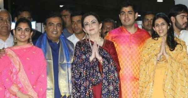 After Their Engagement, Akash Ambani Visits Siddhivinayak Temple With Shloka Mehta And Family!