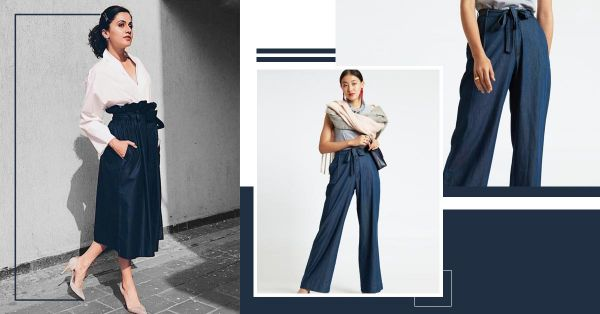 For A Slimming Waistline Make A Style Statement With Paperbag Trousers!
