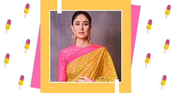 Bebo's New Saree Reminds Us Of Mother Dairy's Mango-Raspberry Licklolly & It's Delicious!