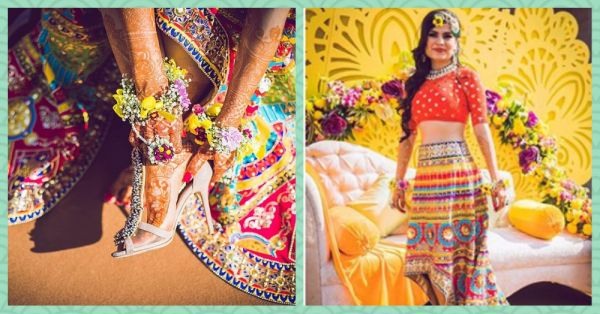 We Can't Stop Staring At The Gorgeous Colours Of This Bride's Mehendi Outfit!