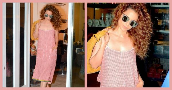 How Low Can You Go? Kangana's Sweet Summery Dress Has A Risque Detail!