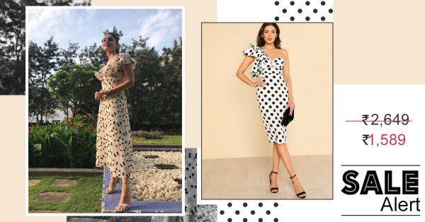 SALE ALERT: Loved Alia's Polka-Dotted Midi Dress? Get The Look For Less!