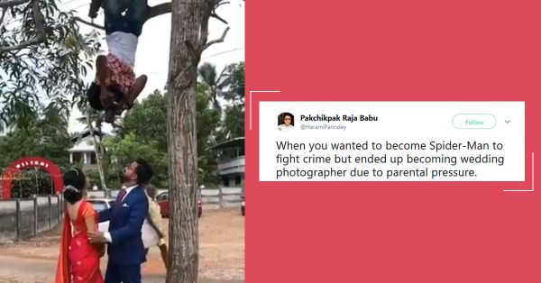 This Wedding Photographer Hung From A Tree For The Perfect Shot & People Are Going Crazy!