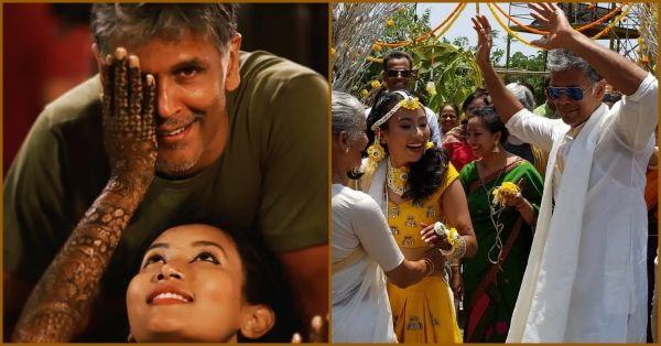 All The Pictures From Milind Soman & Ankita Konwar's Mehendi Ceremony In Alibaug!
