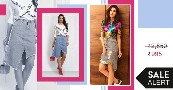 #HotDeal: We Found Kriti Sanon's Denim Skirt & It's At 65% Off RN!