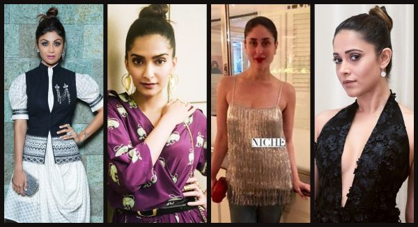 #CelebHairInspo: Shilpa, Sonam, Kareena And Nushrat Give The Top Knot A Stylish Upgrade!