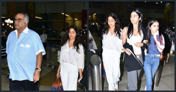 Janhvi & Khushi Arrive In Delhi With Boney Kapoor To Receive Sridevi's National Award