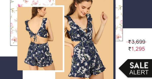 Work This Discounted Playsuit Into Your Vacation Wardrobe This Summer!