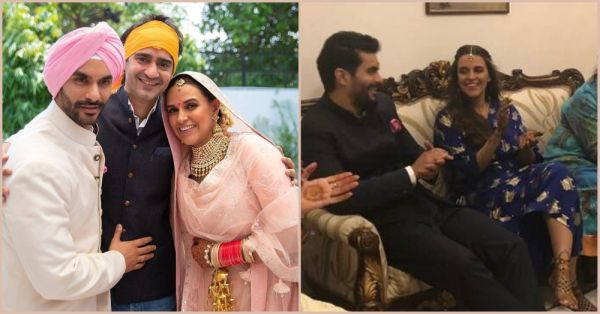 Unseen Pictures And Videos From Neha Dhupia & Angad Bedi's Mehendi & Wedding Ceremony!