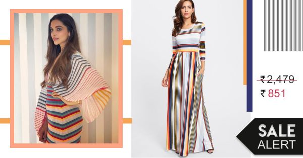 #WhenInCannes: We Found Deepika's Candy Striped Dress For A Price You Won't Believe!