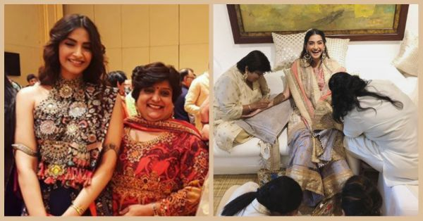 All The Super Stylish Pictures From Sonam's Mehendi That You Missed Out!
