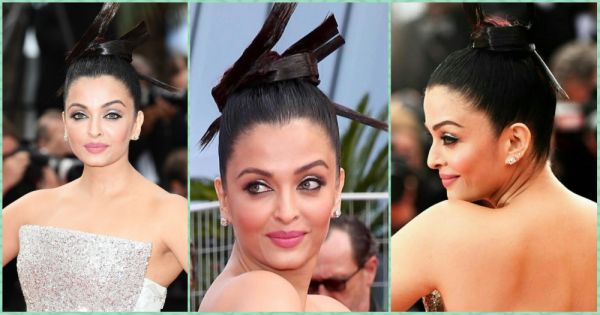 #Cannes2018: Aishwarya Rai Bachchan Gives The Sleek Top Knot A Feathery Upgrade