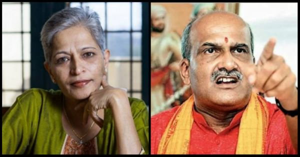 Ram Sene Chief Compares Gauri Lankesh's Murder to A Dog's Death & A Raged Audience Is All We Can See Now