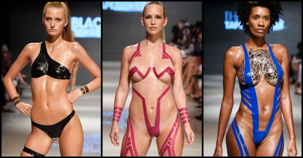 Duct-Tape Bikinis Are Leaving A Little To Our Imagination & A Lot Of Pain!