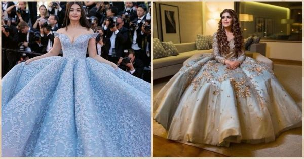 This Bride Wore A Similar Outfit To Ash's Iconic Cannes Gown & We're Getting Princess Vibes!
