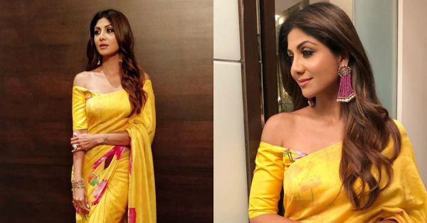 Shilpa's Saree Is Such A Snack We're Not Sure If It's From House Of Masaba Or House Of Masala!