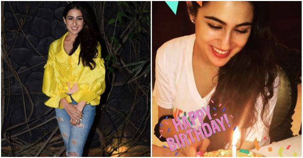 See Pics: Sara Ali Khan's 23rd Birthday Was One Big Fam-Bam