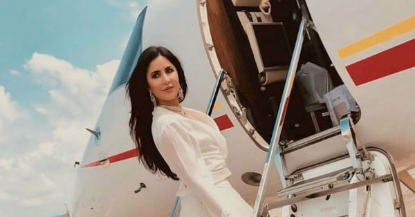 Katrina Kaif Wore A Lehenga For A Short Plane Ride And We're NOT Amazed!