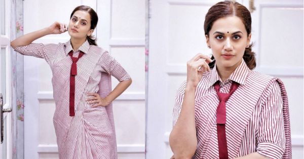 'Oh Ho Ho School Time' Is What Taapsee Pannu's Uniform Saree Is Making Us Sing!