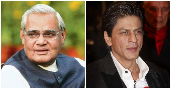 Shah Rukh Khan Writes A Heartfelt Tribute To Former Indian PM Atal Bihari Vajpayee