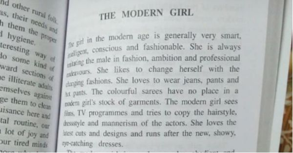 In Today's Shameful News, CBSE Textbook Calls Modern Girls Self-Centered & Fashion Obsessed!