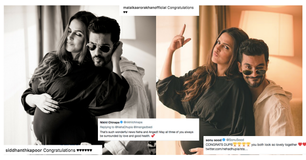 Wishes From Bollywood Pour In For The Soon-To-Be Parents, Neha Dhupia & Angad Bedi!