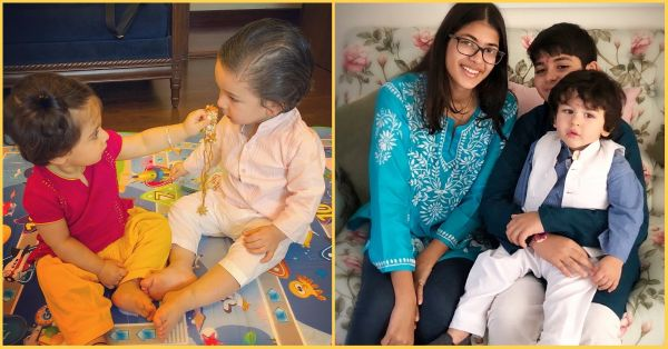 Taimur's Outfit Change For Rakhi Celebrations At Dadi House & Nani House Is SO Nawab!