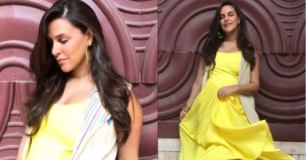 Bollywood's Newest Mommy-To-Be Neha Dhupia Glows Like The Sun In This Yellow Maxi