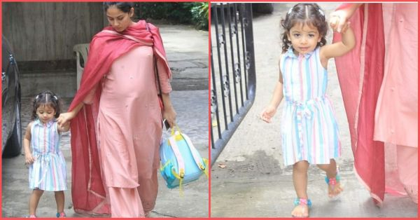 Misha Kapoor's Candy Striped Dress Looks As Yummy As Her Mummy!