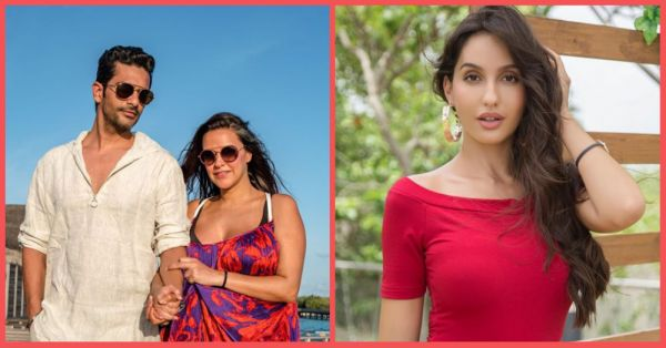 Nora Fatehi Finally Talks About Giving Ex-Boyfriend Angad Bedi & Neha Dhupia 'Evil Eyes'