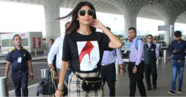 Shilpa Shetty Is An Angel From Fashion Heaven In *The Devil Wears Prada* T-shirt