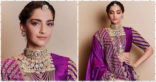 Sonam Looks Pretty In A Purple Lehenga But It's Anand's Cutsey Gesture That Has Us Gushing!