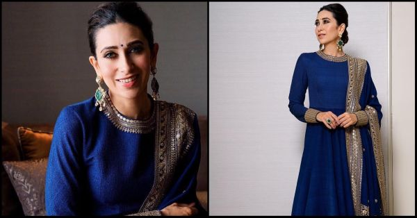 Karisma Gave Us A *Dil Toh Pagal Hai* Flashback Sabya Style In This Royal Blue Suit!