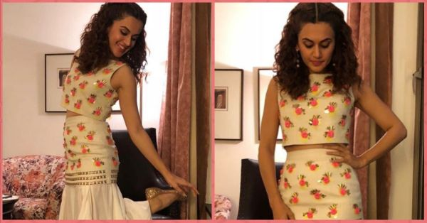 We Don't Know If It's A Skirt Or A Dhoti But Taapsee Pannu's Look Is Perf For Your Mehendi!