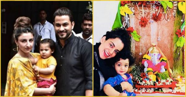 From Soha's Lil Darling to Kangana's Nephew, Bollywood Babies Celebrated Ganpati In Style!