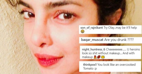 Priyanka Chopra Took A Bare Faced Selfie And The Internet Trolled Her For 'Looking Old'