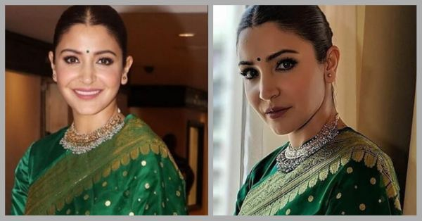 Anushka Sharma's Green Benarasi Saree Is Even Better Than What She Wore At Her Reception!