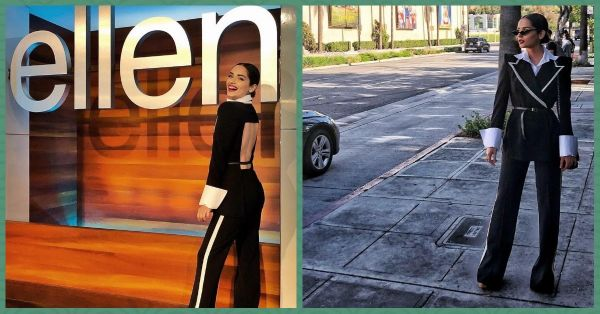 Manushi Visited The Sets Of The Ellen Show Looking Like A Fly Spy From A Bond Movie!