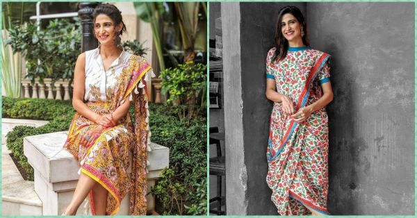 Aahana Kumra's Fusion Saree Is Just What You Need For This Festive Season!