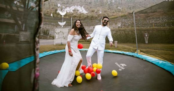 This Couple Added Such A Fun Twist To Their Wedding & We're *Jumping* With Joy!